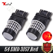 2 Pieces Super Bright 3157 3156 3014 54-EX Chipsets 3057 3056 4157 LED Bulbs Used For Turn Signal Lights,Tail Lights Red Color(China)