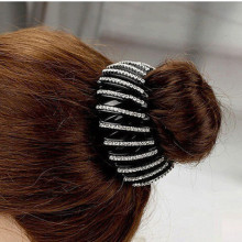 Beautiful Crystal Rhinestone Ponytail Hair Ornaments Bud Hair Clip Hairpin Women Fashion Hair Accessories