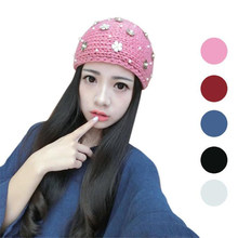 2017 new winter women gril fashion Hot Sale Lowest Price Hat Skiing Cap Knitted Empty Skull beautiful Headband JUL20