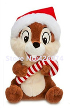 New Chip and Dal Holiday Plush 18CM Kids Chipmunk  Stuffed Animals Toys Children Christmas Gifts