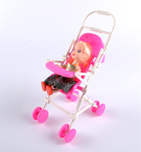 New Assembly Doll Baby Stroller Trolley Nursery Furniture Toys Pink 2017 hot sale