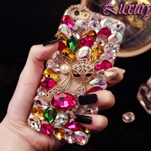 Diamond Case For Sony Xperia Z X Performance C T3 X compact XZ1 Compact E3 phone case Bling crystal Diamond fox capa funda Coque(China)