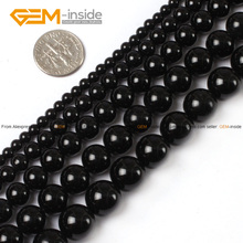 Natural Round Black Agat Stone Beads For Jewelry Making DIY Jewellery 4-16mm 15inches FreeShipping Wholesale Gem-inside