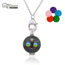 my shape New Creative Tree Of Life With Sun And Moon Energetic Locket Pendant Perfume Essential Oil Diffuiser Necklace Jewelry