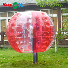 free shipping 1.5m(5ft) TPU red walk in plastic inflatable bumper bubble soccer ball for rent with sport event entertainment