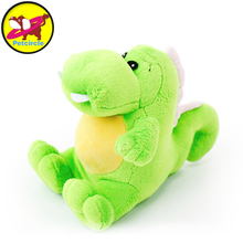 petcircle wholesale pet dog plush toys dragon dog toy squeakers chihuahua 2 color 14cm pet dog training supplies free shipping(China)