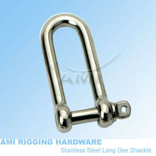6mm, Long D standard shackle, stainless steel 316, wholesale over 100pcs, marine hardware, boat hardware, rigging hardware(China)