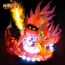 MODEL FANS IN-STOCK NARUTO 13cm q version Uchiha Itachi Susanoo Tempestuous God of Valour GK TPU made contain led light figure