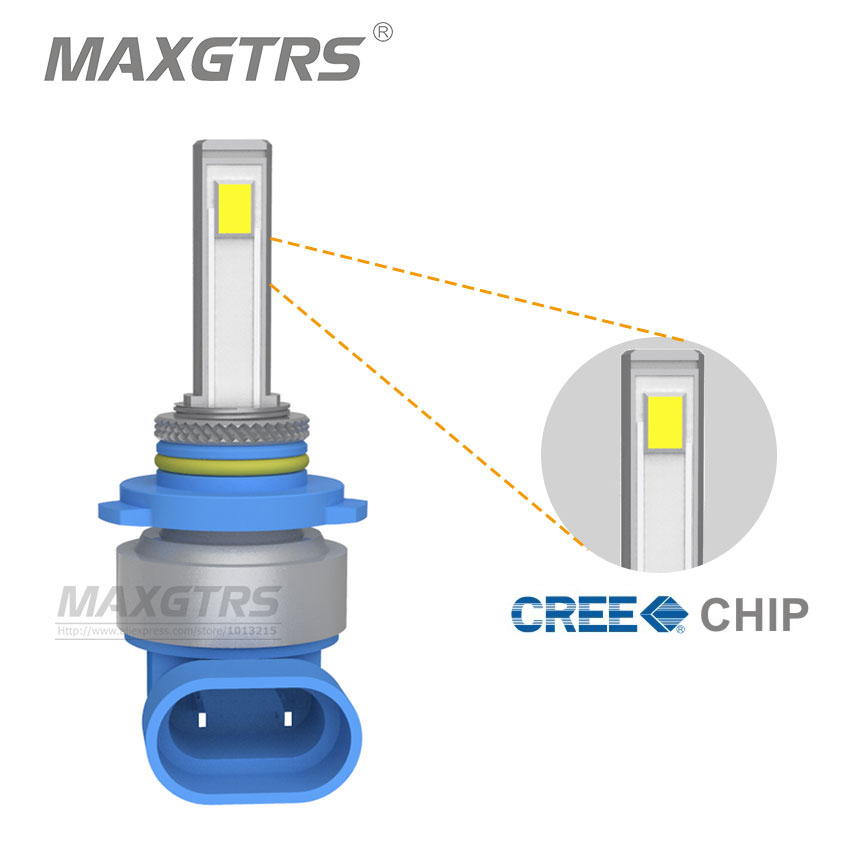 2x 9005/HB3 CREE Chip COB LED Front Fog Lights Bulb Daytime Running Driving Light DRL 4300K/6000K Alloy Material 50W 3600LM<br><br>Aliexpress