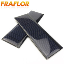 2PCS X 0.35W 5.5V 65mA Polycrystalline Solar Panel Small Solar Cell PV Module For Mobile Phone Battery Charger
