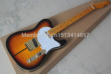 Free shipping Chinese Factory Custom Shop  100% NEW Deluxe Solid maple telecaster guitar yellow color oem electric guitar