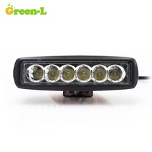 Green-L 6 Inch 18W LED Bar 12V LED Work Light Offroad Spot Flood Car Truck Boat  ATV 4x4 Driving Fog Lamp