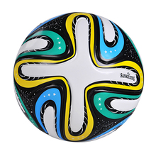 soccer ball size 5 PU leather football competition training professional football Seamless Paste for soccer Free ship C09(China)