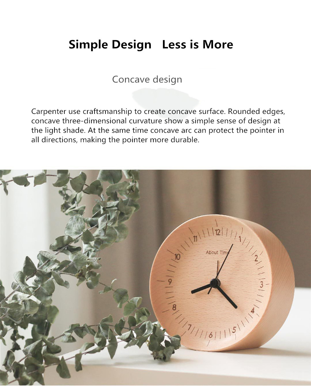 Xiaomi Mute Wooden Alarm Clock (4)