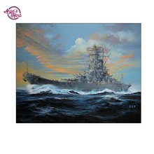 ANGEL'S HAND DIY warship Diamond Embroidery 5D Diamond Painting Cross Stitch Mosaic Pattern Full round Rhinestone painting