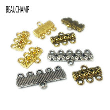 BEAUCHAMP Vintage Pendant Bails Necklace Ends Connector Links Metal Charms Bracelet Beads Spacer Clasps Jewelry Findings(China)