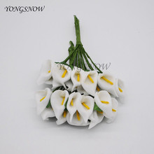 Simulation Artificial PE Foam Calla Lily Flowers 36 pcs Wedding Decoration DIY Gift Boxes Sewing Knitting Arts Crafts Supplies