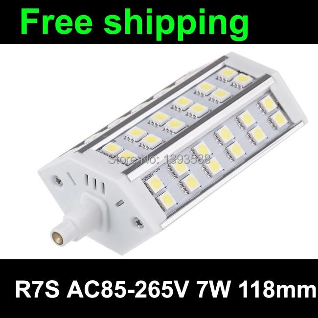 r7s 118mm led bulb j118 lampe 7W de 36led 5050SMD AC85-265v  CE RoHS 3 years warranty<br><br>Aliexpress