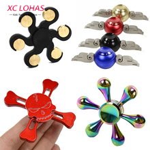 12 Colors Metal Hand Spinner Fashion Fidget Spinner Anti Stress Finger Toys Cool Gifts Educational Balance Toy(China)