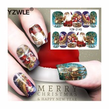 YZWLE 1 Sheet Christmas Design DIY Decals Nails Art Water Transfer Printing Stickers Accessories For Manicure Salon (YZW-2145)(China)