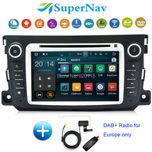 Two Din 7 Inch Car DVD Player Android 7.1 Fit Mercedes Benz Smart Fortwo 2012 2013 2014 3G WIFI DAB+ Radio DVD GPS Navigation(China)