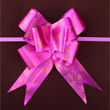 100 Pcs/lot 5X72 cm Hot Pink Rose Wrap Color Pull Bow Flower Wedding Birthday Party Decor