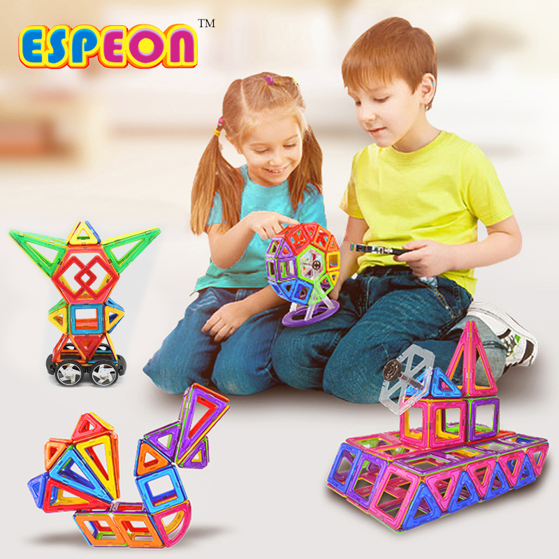 Espeon 67PCS Enlighten Bricks Educational Magnetic Designer Toy Square Triangle 3D DIY Building Blocks Birthday Gifts for Kids<br>