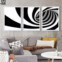 3 piece canvas wall art black and white abstract modern art handpainted zebra oil painting on