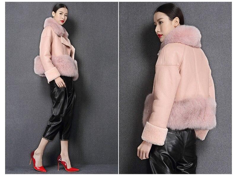 genuine sheep leatherskin jacket fox fur cooar coats (12)