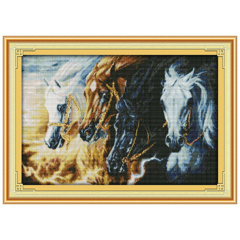 Counted Cross Stitch Patterns Needlework for embroidery Andalusian Horse