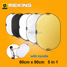 60 x 90cm 5 in 1  Photographic Light Mulit Collapsible Portable Photo Reflector For Photo Studio Video Flash