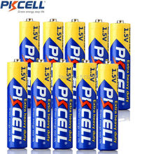 10Pieces X PKCELL AAA R03P (1.5v) Zinc Carbon Batteries (also known as UM4, MN2400,3A) 45min 2years life time(China)