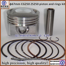 Free shipping new and high quality for Honda motorcycle 250cc ZS250 for zongshen CG250 piston and rings kit