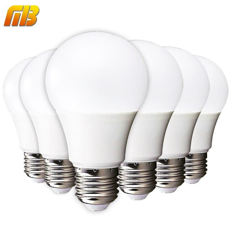 6pcs LED Bulb E27 E14 3W 5W 7W 9W 12W 15W 18W Smart IC LED Light Cold White Warm White Lampada Ampoule Bombilla Lamp Lighting