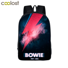 David Bowie Backpack Women Men Rock Band The Beatles / Queen Backpacks For Teenagers Boys Girls Daily Bag Children School Bags(China)