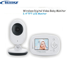 2.4 inch Wireless Video Color Baby Monitor High Resolution Baby Nanny Security Camera Night Vision Temperature Monitoring