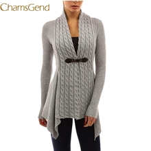 2017 Autumn Winter Elegant Lady Sweater Women Long Sleeve Sweater Casual Knitted Cardigan Outwear Single Button V-Neck Sueter 36(China)