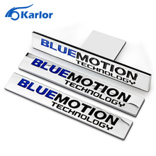 Blue Motion Technology Metal Car Auto Tailgate Chrome Grill Emblem Sticker Badge For VW Polo Golf Bora Tiguan Passat Car-Styling