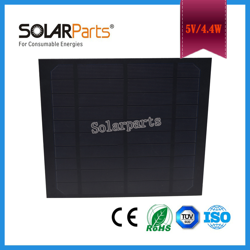 Solarpart Frosted PET Laminated solar module solar panel cell 5v 880mA frosted Monocrystallin Silicon high efficiency solar cell(China)
