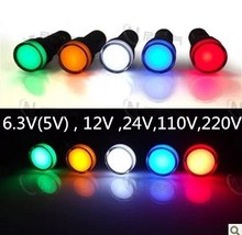 10pcs 16mm signal led Indicator light blue green red,white yellow pilot lamp