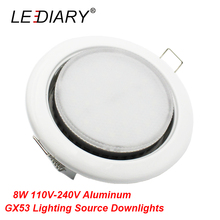 LEDIARY Bright Separable Round Recessed Led Downlights with 8W Aluminum GX53 Lighting Source 110-240V 90mm Cut 3000K/4000K/6000K