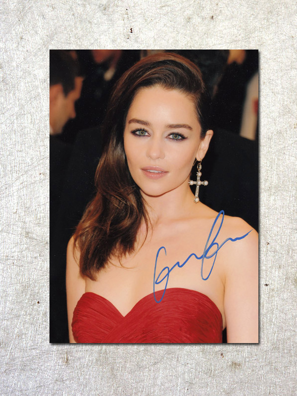 signed Emilia Clarke Game of Thrones autographed original photo 7 inches free shipping  092017A<br>
