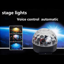 Mini RGB 20W 6 LED Crystal Magic Ball Stage Effect Lighting Lamp Bulb Party Disco Club DJ Light Show Lumiere US/EU/UK/AU Plug
