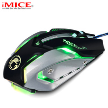 iMice V8 Professional Custom Program Wired Gaming Mouse 4000DPI 6Button LED Optical Computer Game Mouse Mice Gamer For PC Laptop