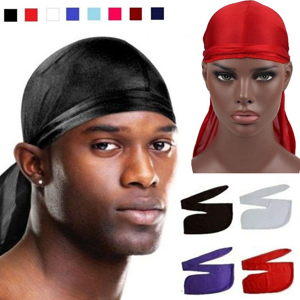 Men Women Durag Bandana Sports Du Rag Scarf Head Rap Tie Down Band Biker Cap UK
