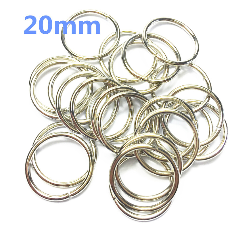 9-  20mm silver Metal O Ring for ribbon Dee Webbing Belt Buckle Bag Non Welded