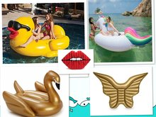 Giant Inflatable Unicorn Flamingo Swan Pool Float Yellow Duck Swimming Floating Swim Ring Ride On Water Toy  for Audlt kids