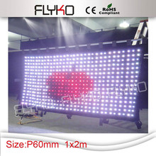 china amazing flexible led curtain display sexy videos(China)