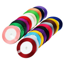 "(25 Yards/Roll ) 1/4"" 6mm Satin Ribbon Roll Bow for Gift Packing Diy Carft Christmas Ribbons Wholesale 22Colors(China)"