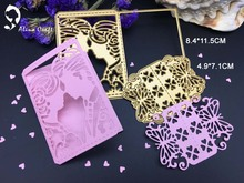 METAL CUTTING DIES 2pc wedding lover bride butterfly Scrapbook card invitation paper craft party decor embossing stencil cutter
